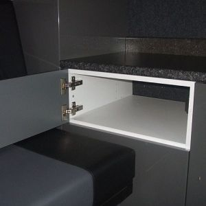 Small cupboard with the electrics below