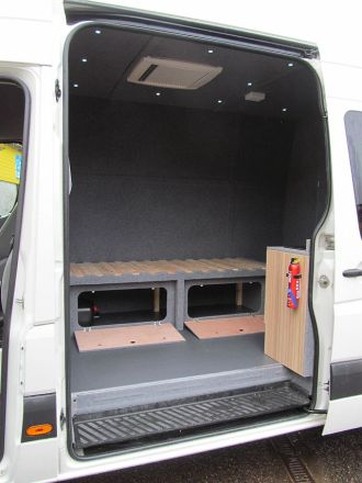 VW Crafter LWB Duncan Was Delighted With The Finished Conversion Which Family Will Use For Weekends Away Trials Bikes Also