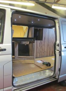 VW T5 Campervan Units Fitted