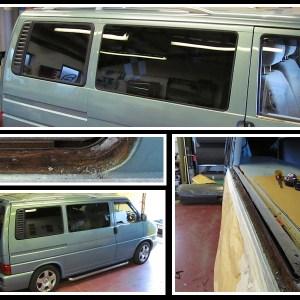 VW T4 window collage