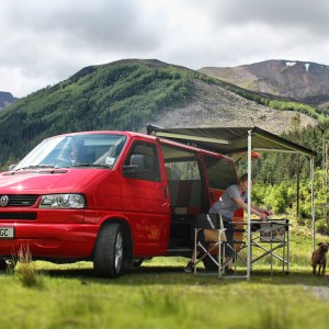 VW T4 Campervan Conversion fitted with Fiamma F45 Awning