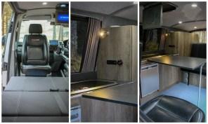 VW T5 Sportline Campervan furniture swivel seats Waeco fridge Smev Hob