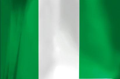 Bandera de Nigeria.