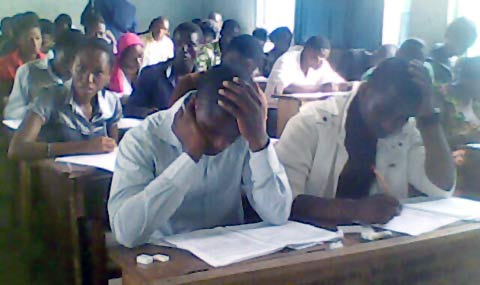 Some candidates during Unified Tertiary Matriculation Examinations