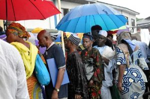 *File: Pensioners queuing for verification
