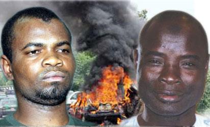 Kabiru Sokoto, Zakari Biu and Boko Haram explosion site