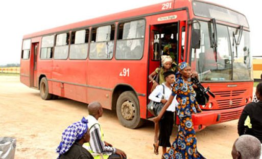 BRT buses...queues at bus terminals  hinders smooth operation