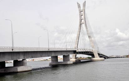 Newly Bridge, During the Commissioning of Lekki-Ikoyi Link Bridge to Commemorate Democracy day in Lagos. Photo: Bunmi Azeez