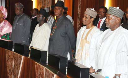 Cross Section of State Governors at the National Economic Council meeting in Abuja on Thursday (27/06/13).