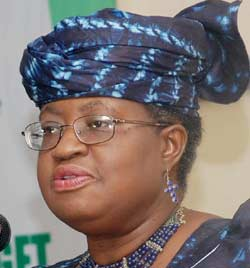 Minister of Finance and Coordinating Minister of the Economy, Dr. Ngozi Okonjo-Iweala