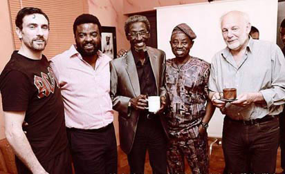 2nd from right Movie producer Kunle Afolayan, Sadiq-Daba, Tunde-Kelani with others participants in the October 1 movie