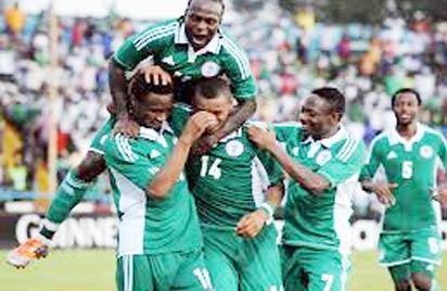 *Joyous Eagles celebrating a goal