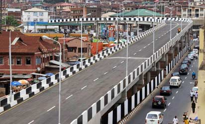 The N3bn Mokola flyover at Ibadan.