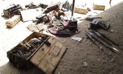 Ammunitions used the Boko Haram insurgents