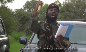 File: Shekau in the video released to AFP. Photo: AFP.