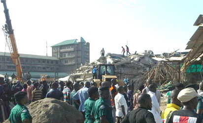 The collapse of a part of a multiple storey building inside the premises of the Synagogue Church of All Nations, SCOAN