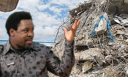 TB Joshua suggests sabotage over deadly building collapse