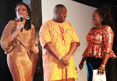 From left: Mrs Helen Ajayi, winner of Allure Style Icon award; Mr. Ikuru and Mrs. Remmy Diagbare, Editor, Allure.
