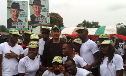 Some supporters of Ben Murray-Bruce at a rally.