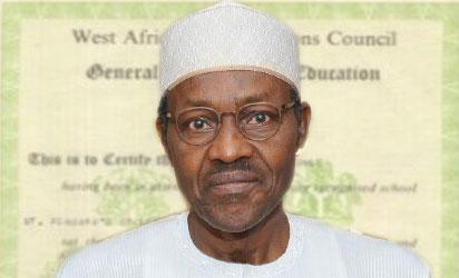 Image result for Buhari WAEC certificate