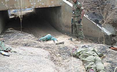 Bodies of some terrorists killed in battle