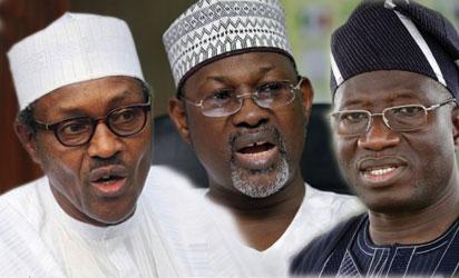 Buhari, Jega and Jonatrhan