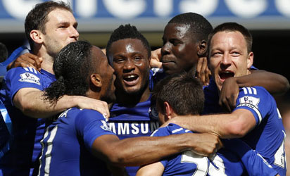 Mikel others celebrating