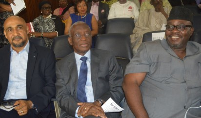 Pix From Left; Mr Remi Desalu, Mr Biodun Disu, Exceutive Chairman Philips, and Mr Taiwo Obe, During the Book Presentation Title; ''For Sam , A collecetion of Contemporary Thoughts'' Held on Thursday 17-12-2015, At Nigerian Institute of International Affairs [NIIA], Kofo Abayomi Street Island Lagos. PHOTO; Kehinde Gbadamosi