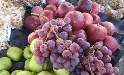 Imported apples and grape in Nigeria