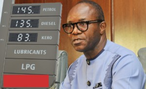 NEW FUEL PRICE—Minister of State, Petroleum, Dr. Ibe Kachikwu, briefing newsmen on the new fuel price, yesterday, in Abuja.