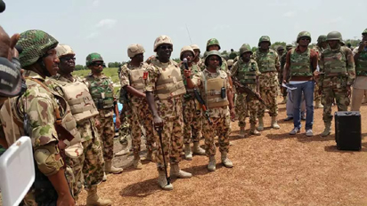 Buratai with troops in the North-East