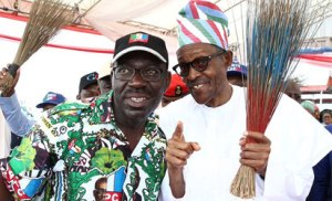 Obaseki, Buhari, election