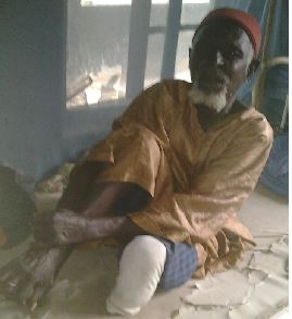 Malam Oro Mamman at the Leprosarium. Pix by Wole Mosadomi