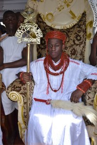 Photos: Youngest monarch in Nigeria receives Staff-of-honour