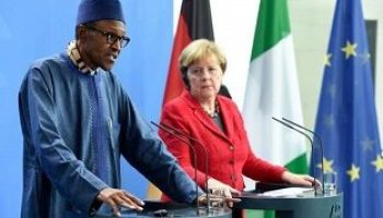 President Buhari and the German Chancellor Angela Merkel.