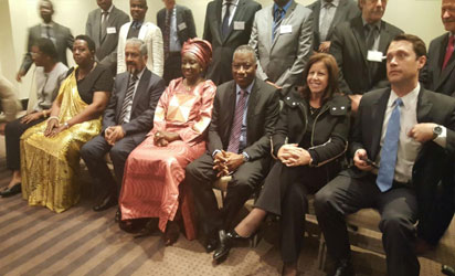 Former  President Jonathan with other African leaders and participants at the African Union High Level Meeting for Heads of Mission of International Election Observation Missions in Johannesburg, SA.