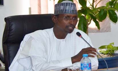 Image result for Executive Secretary of the Nigerian Shippers Council, Barr. Hassan Bello and his Management Team to the FCT Minister, Muhammad Musa Bello