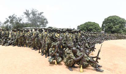 Photos: Nigerian Army recruits in training at Depot in Zaria