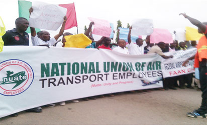Aviation unions embark on peaceful protest at Lagos airport