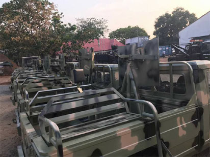 Nigerian Army take delivery of Innoson vehicles for military