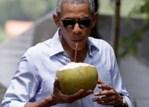Obama drinks coconut water too