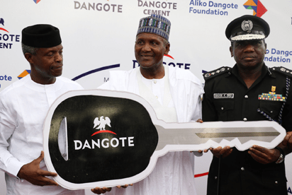 Photos: Dangote donates 150 Operational cars to Nigeria