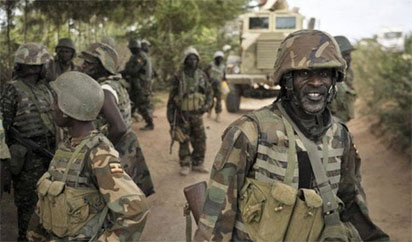Ngerian troops fighting Boko haram