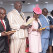 Ambode swears in five new Perm Secs, charges them to prioritize efficient service delivery