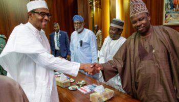 APC crisis: Buhari meets Amosun, Akeredolu, Fayemi