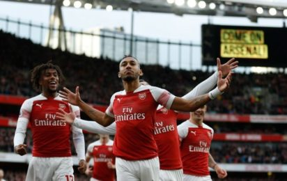 Premier League  How Arsenal edged past 10-man Watford, moved into top four #Nigeria Aubameyang e1543778999561