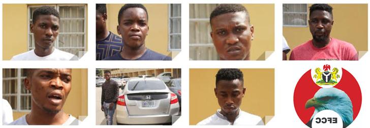 Breaking: EFCC arrests 7 Lagos 'Yahoo boys', seizes 2 cars, 7 laptops, 6 phones - Vanguard News