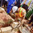 Shaibu lays foundation for 300-capacity CBT centre
