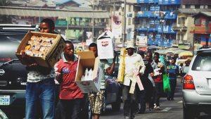 Street trader, Lagos