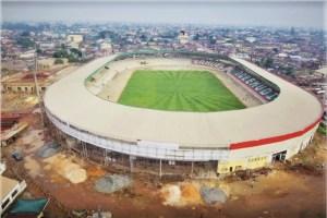 Ongoing reconstruction of Samuel Ogbemudia stadium, in Benin City, Edo State.